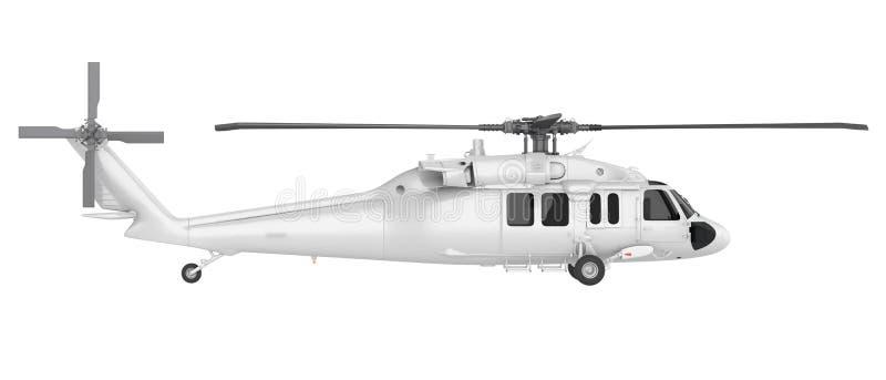 Helicóptero aislado stock de ilustración
