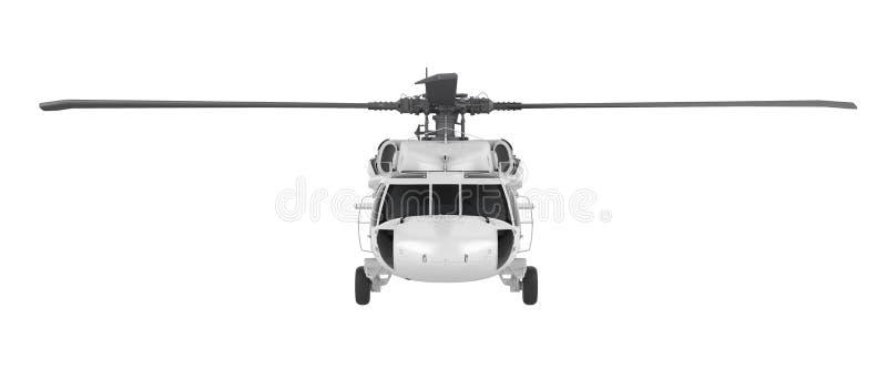 Helicóptero aislado ilustración del vector