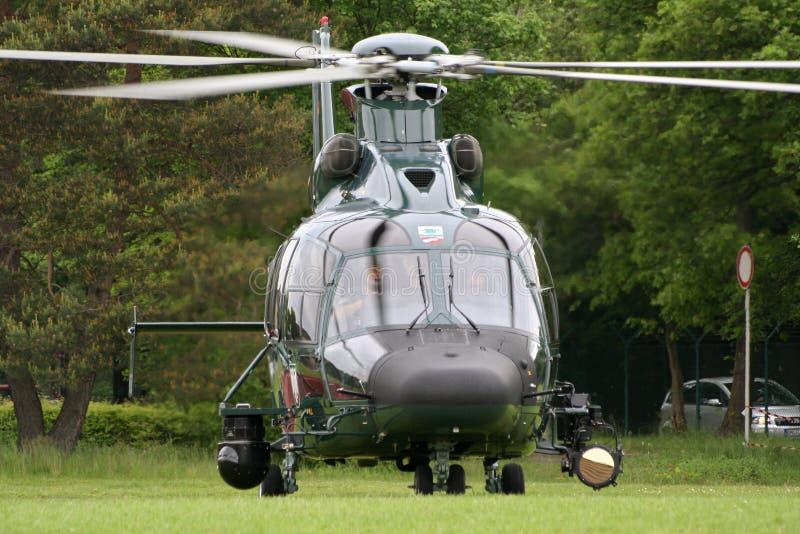 Helicóptero alemão da patrulha fronteiriça EC-155 imagens de stock