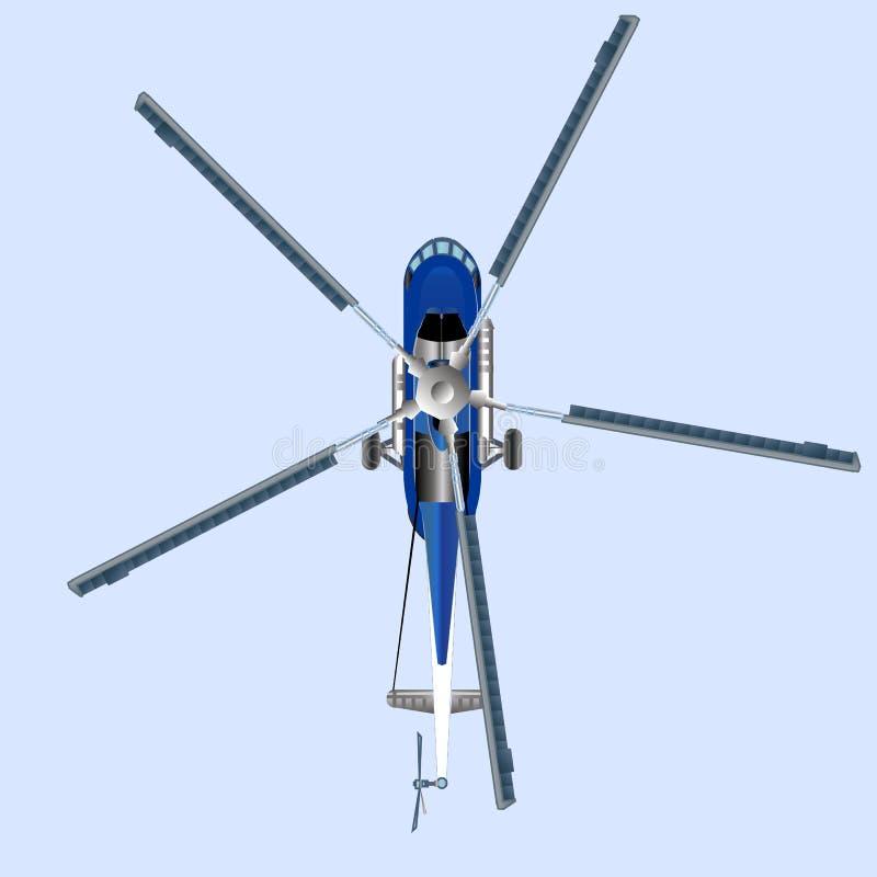 Helicóptero azul MI 8 libre illustration