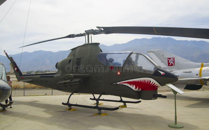 Helicóptero Bell AH-1 Huey Cobra imagem de stock