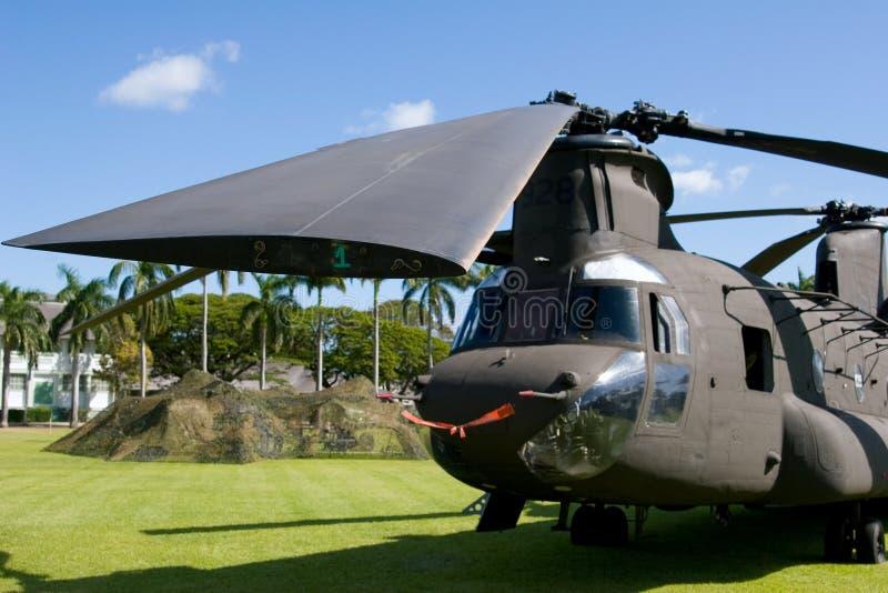 Helicóptero CH47 imagem de stock