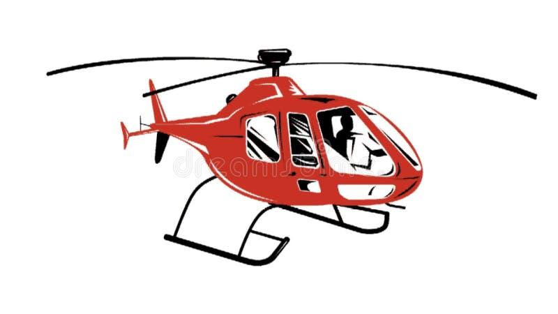 Helicóptero Chopper Retro ilustração do vetor