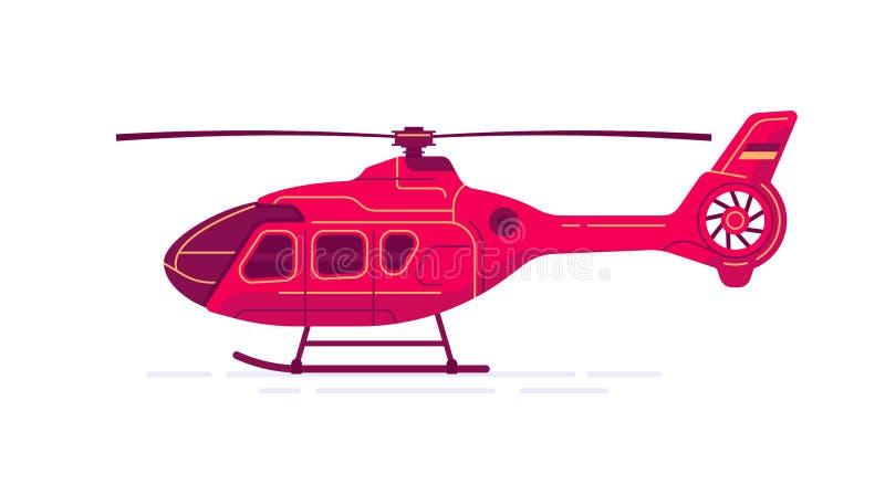 Helicóptero civil del vector ilustración del vector