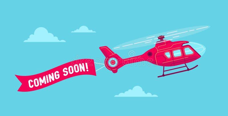 Helicóptero civil do vetor ilustração do vetor