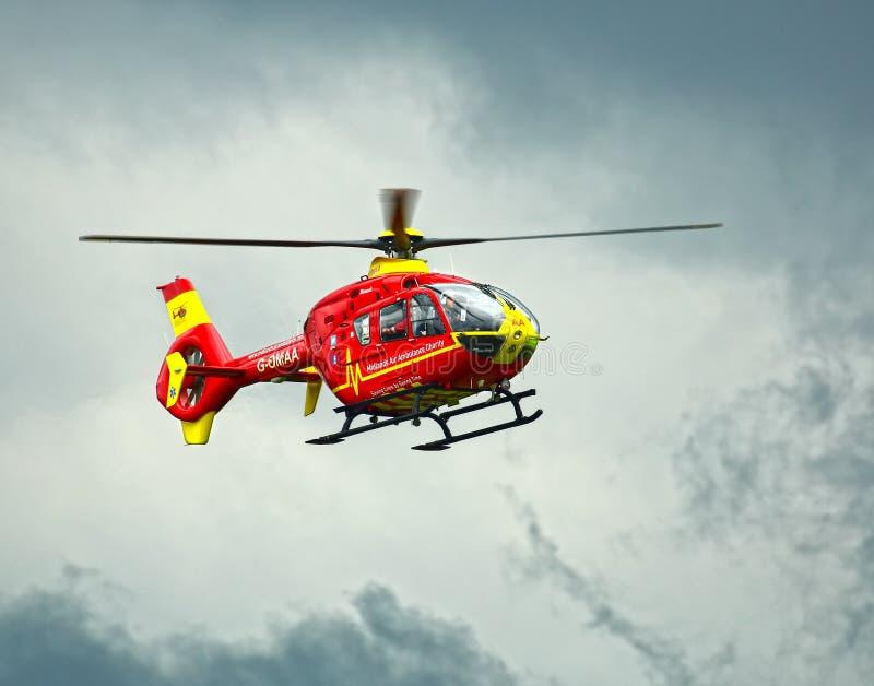 Helicóptero da ambulância de ar imagem de stock