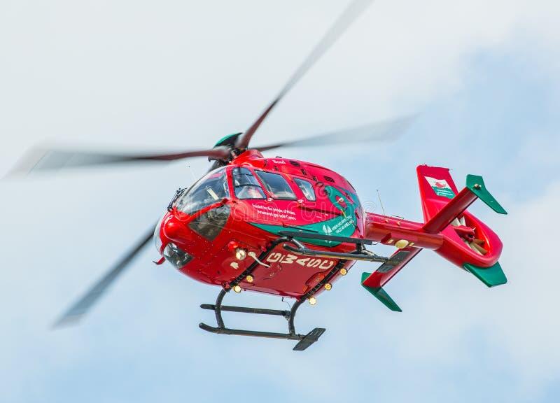 Helicóptero da ambulância de ar de Galês fotografia de stock