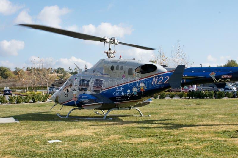 Helicóptero da emergência foto de stock