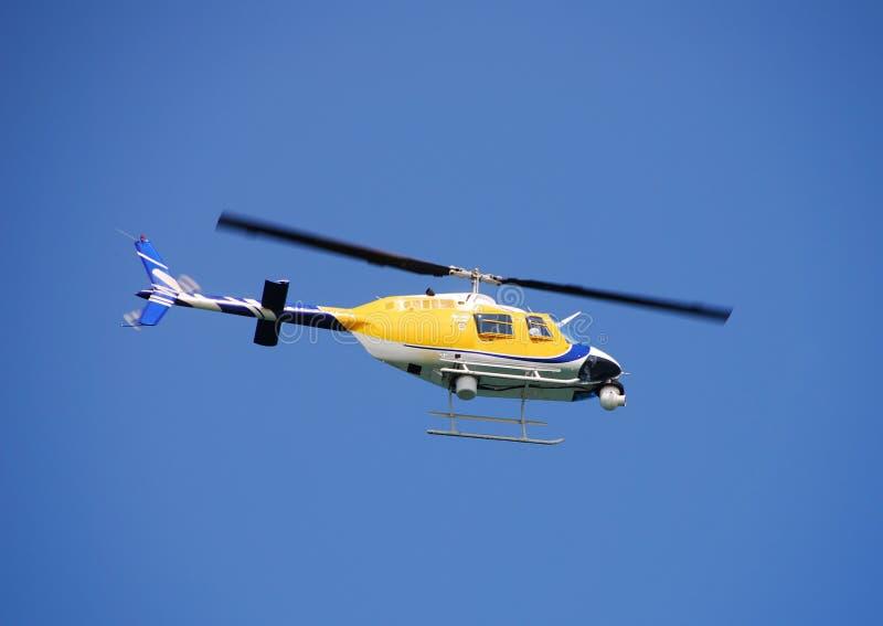 Helicóptero da notícia imagem de stock