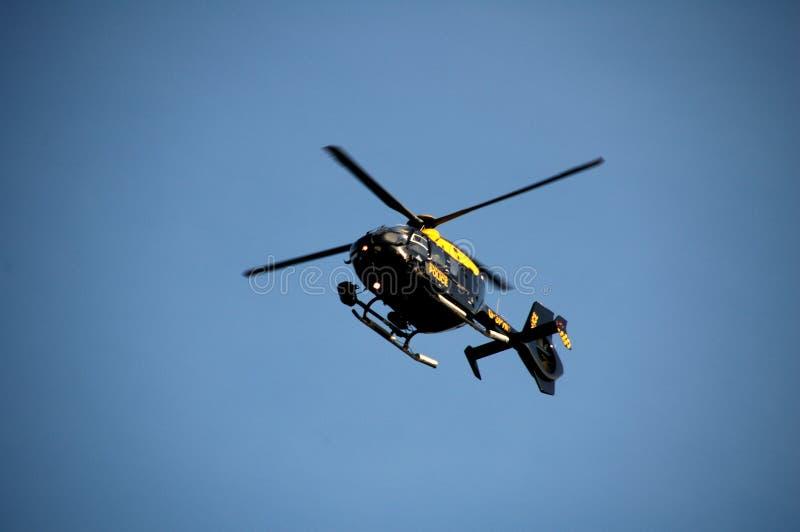 Helicóptero da polícia fotografia de stock royalty free