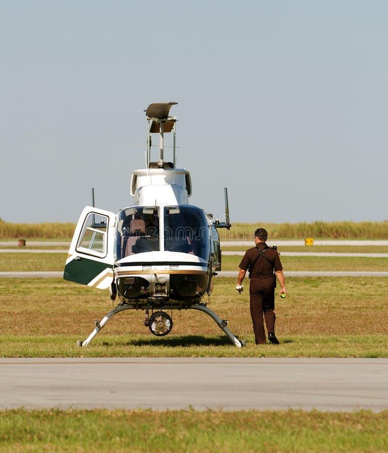 Helicóptero da polícia fotografia de stock