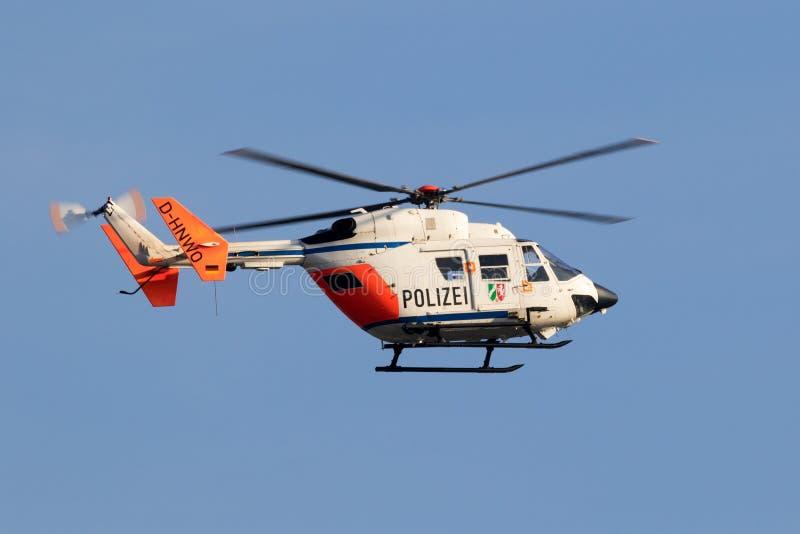 Helicóptero da polícia Alemanha imagens de stock royalty free