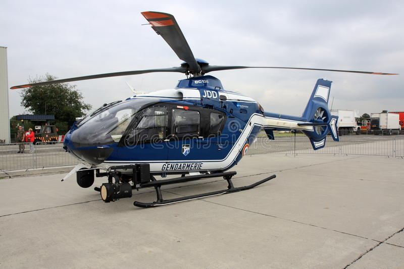 Helicóptero da polícia francês imagem de stock