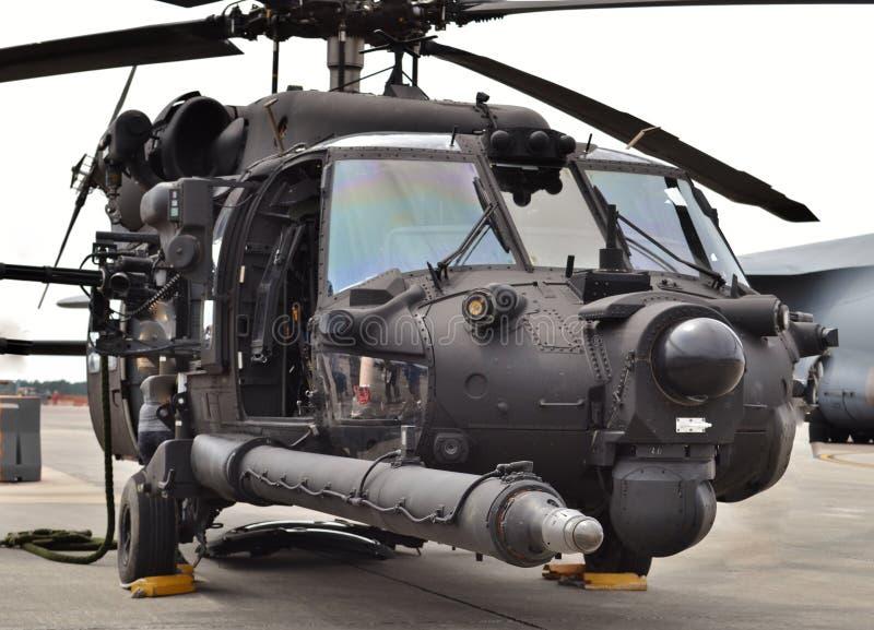 Helicóptero das forças especiais MH-60 Blackhawk foto de stock royalty free