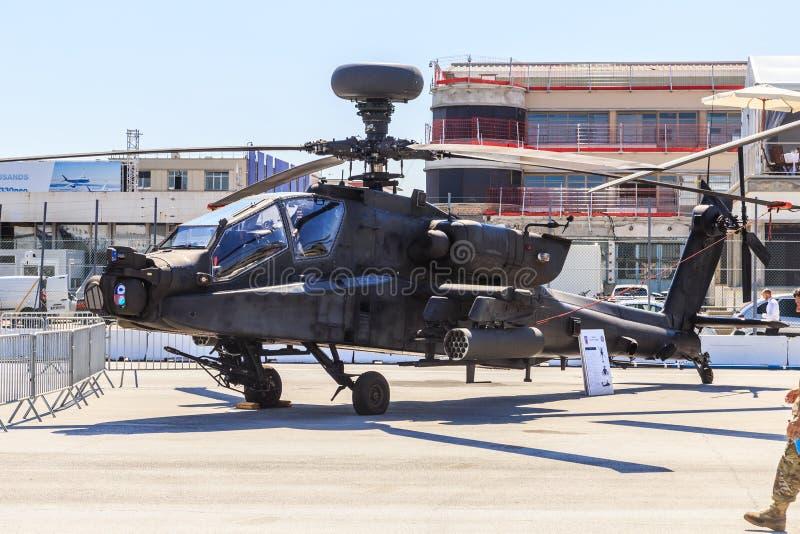 Helicóptero de ataque de Boeing Apache AH-64 foto de archivo
