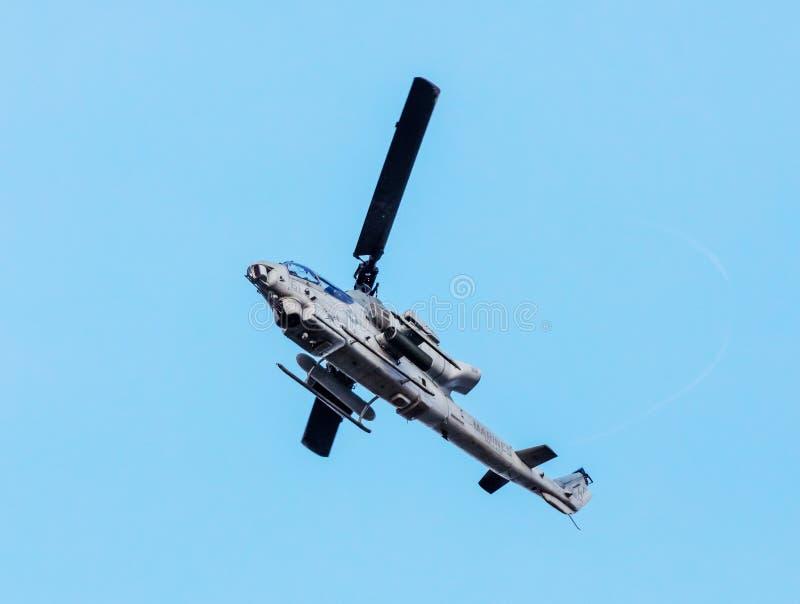 Helicóptero de ataque da víbora de Bell AH1Z fotos de stock royalty free