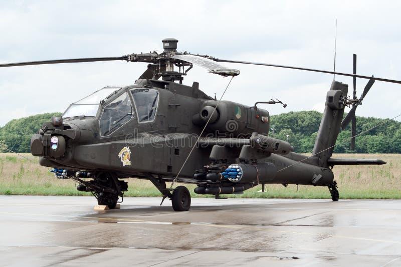 Helicóptero de ataque de Apache fotografia de stock royalty free