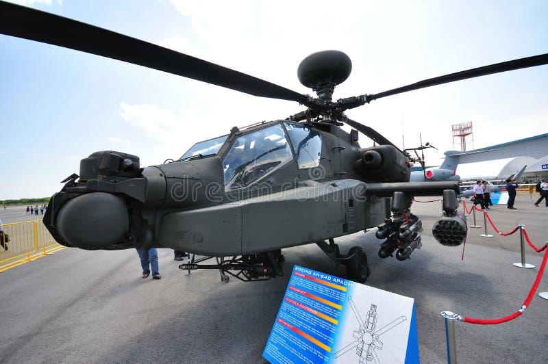Helicóptero de ataque de RSAF Boeing AH-64D apache fotos de stock