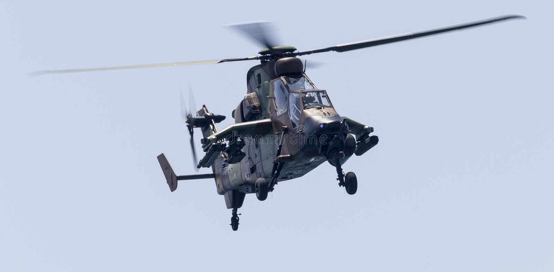 Helicóptero de ataque do tigre imagens de stock royalty free