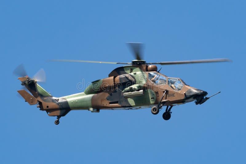 Helicóptero de ataque francês do tigre de Armee De Terre Eurocopter EC665 do exército imagem de stock royalty free