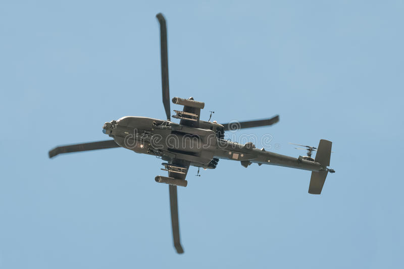 Helicóptero de Boeing AH-64 Apache fotos de stock