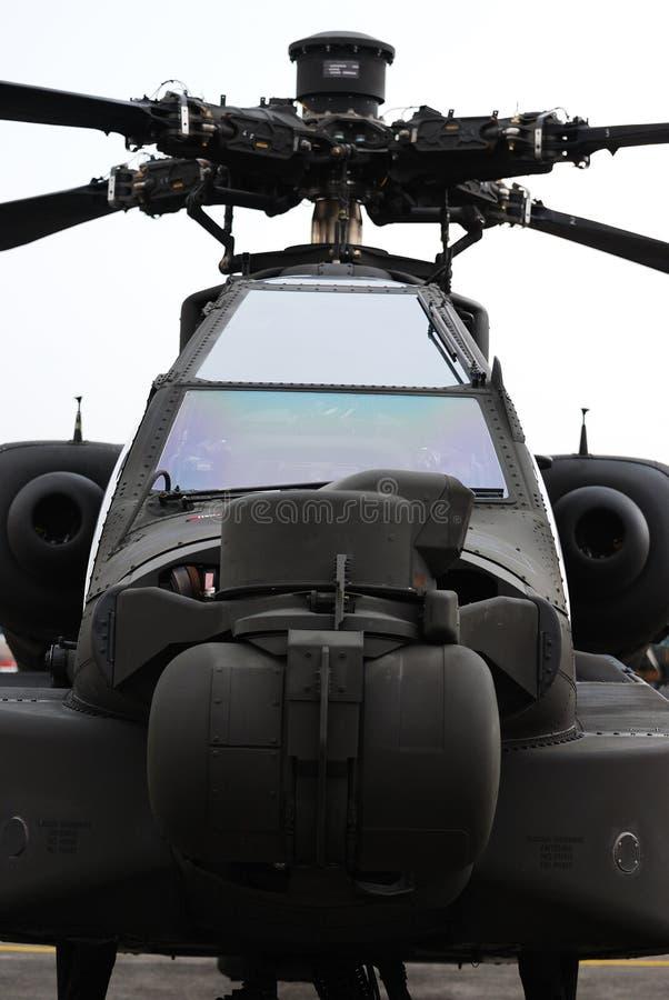 Helicóptero de combate foto de stock