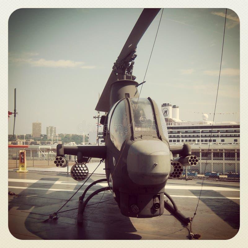 Helicóptero de combate da cobra fotografia de stock