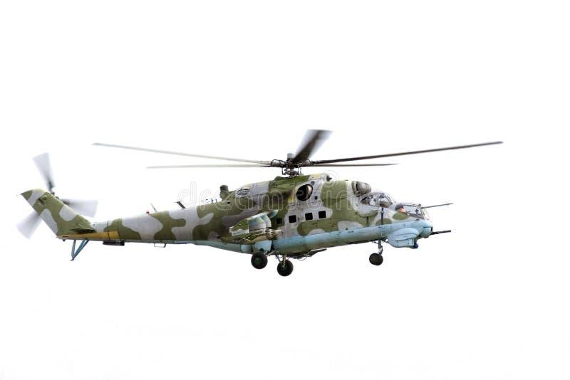 Helicóptero de combate Mi-24 fotos de stock