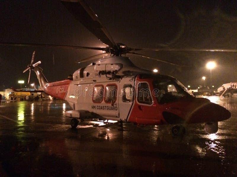 Helicóptero de HM Coastguard Agusta Westland - AW139 fotos de archivo libres de regalías