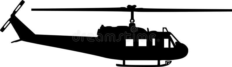 Helicóptero de Huey stock de ilustración