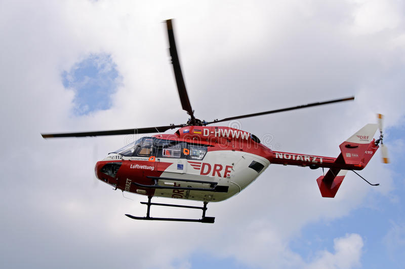 Helicóptero de la ambulancia imagenes de archivo