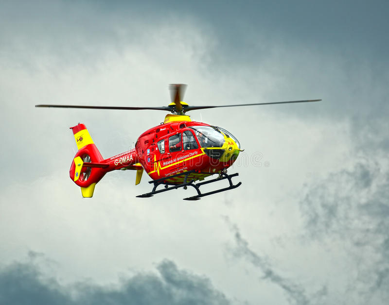 Helicóptero de la ambulancia aérea imagen de archivo