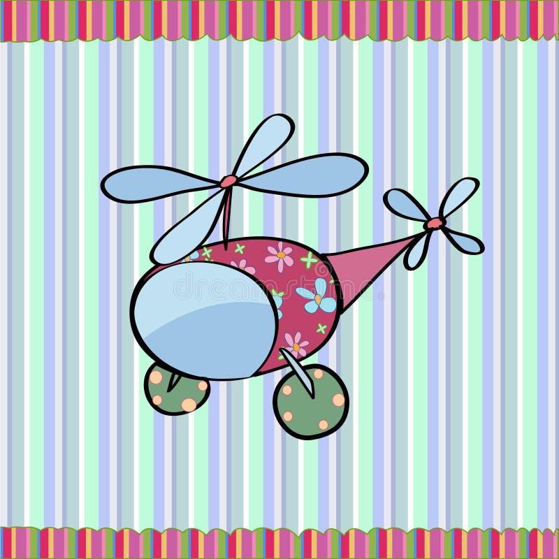 Helicóptero de la historieta libre illustration