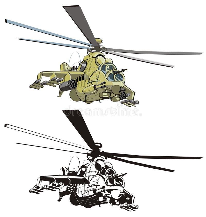 Helicóptero de la historieta del vector ilustración del vector