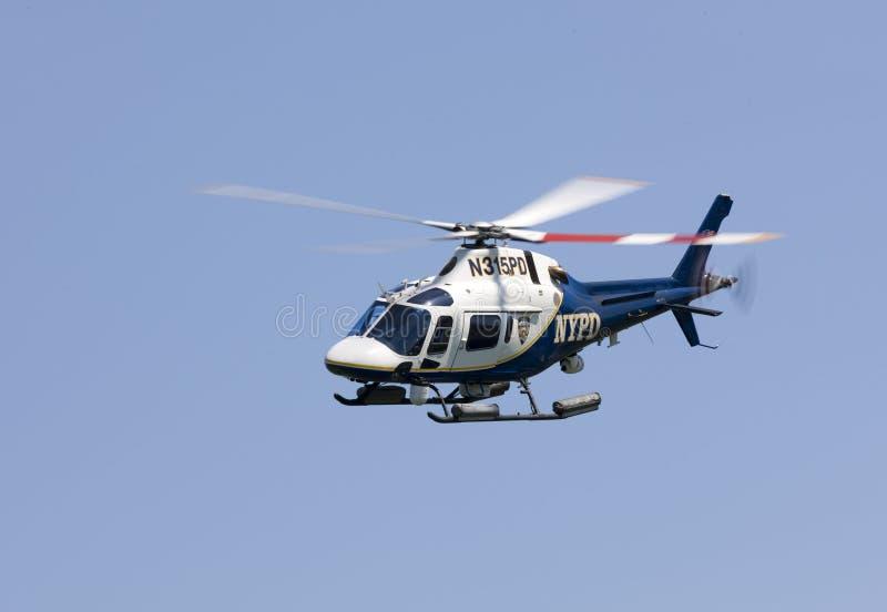 Helicóptero de NYPD fotos de archivo libres de regalías