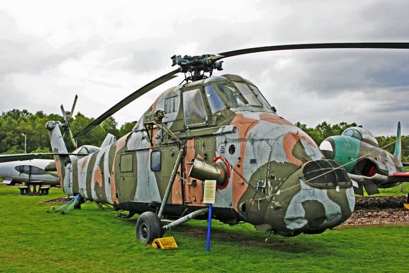 Helicóptero de Wessex en el museo de la aviación de Dumfries fotografía de archivo libre de regalías