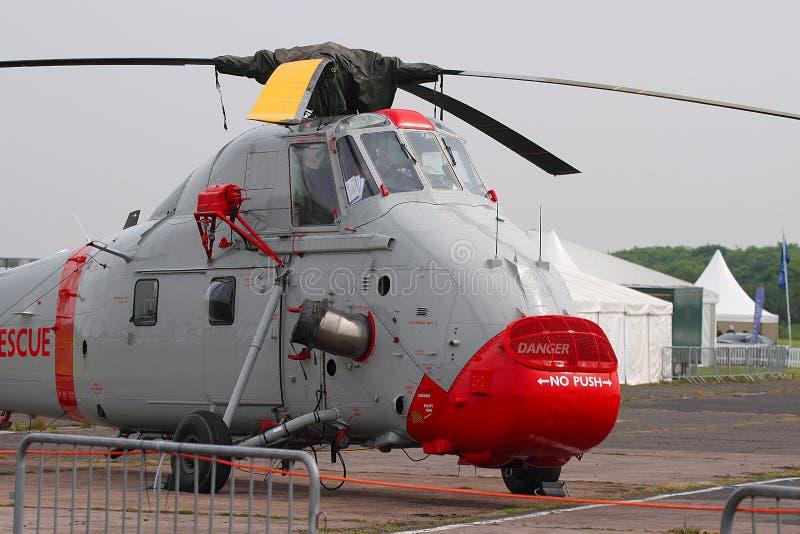 Helicóptero de Westland Wessex en la exhibición imagen de archivo