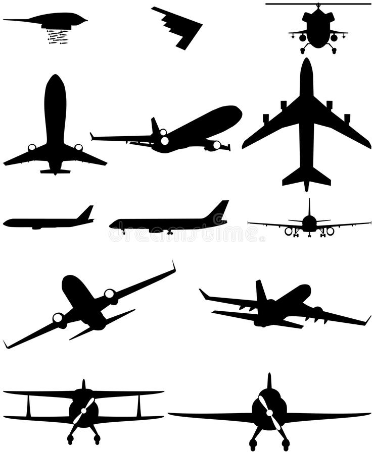 Helicóptero del aeroplano de los logotipos de los iconos ilustración del vector