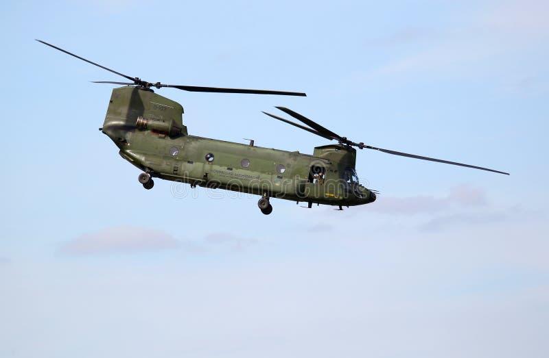 Helicóptero del chinuk de Boeing CH-47D imágenes de archivo libres de regalías