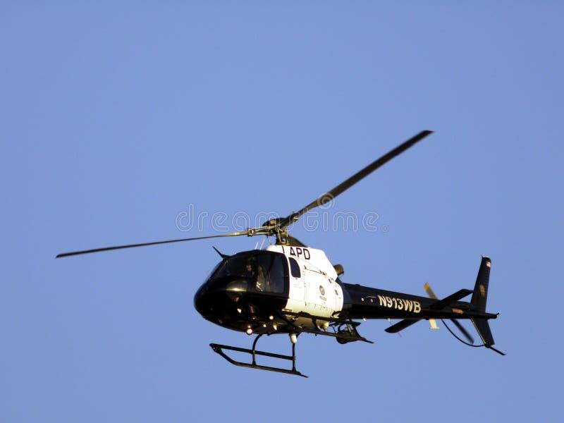 Helicóptero del Departamento de Policía de Los Ángeles en vuelo fotografía de archivo libre de regalías