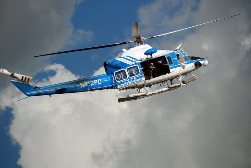 Helicóptero del Departamento de Policía de Nueva York imagen de archivo libre de regalías