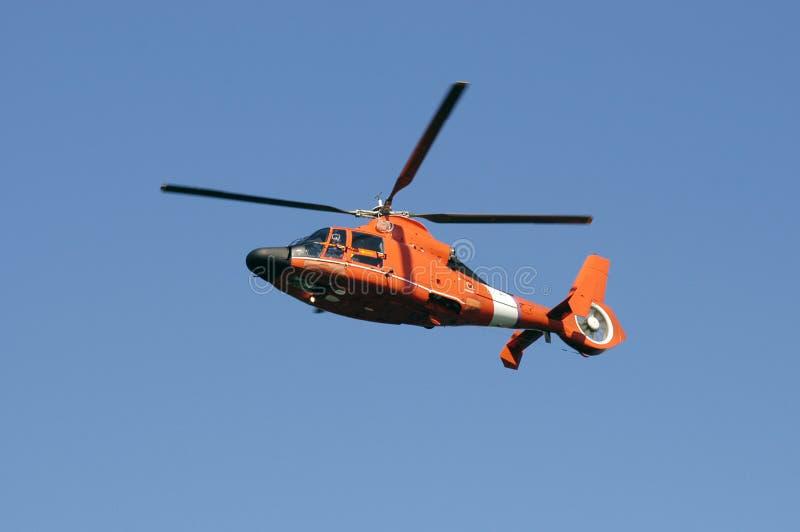 Helicóptero del guardacostas imagen de archivo libre de regalías