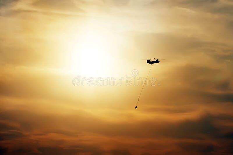 Helicóptero del reguero de pólvora del tipo 1 fotos de archivo