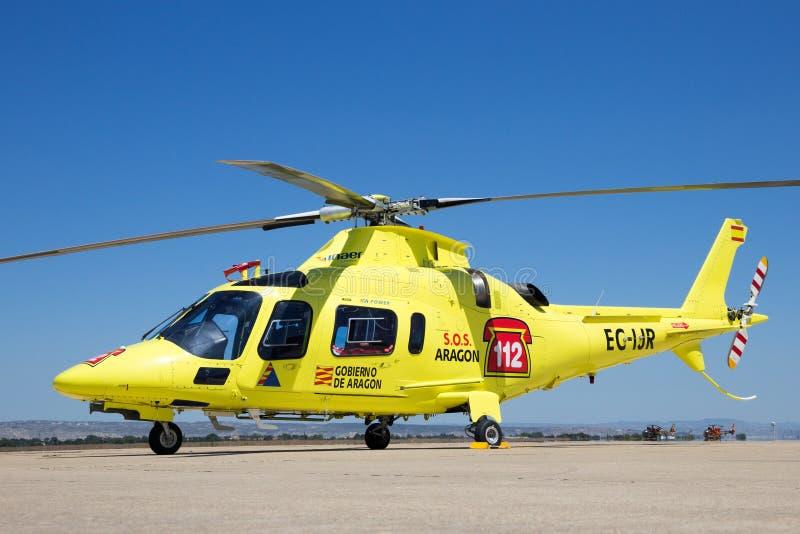 Helicóptero del rescate A-109 imagen de archivo