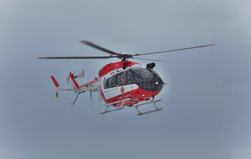 Helicóptero del rescate de Eurocopter EC145 imagen de archivo