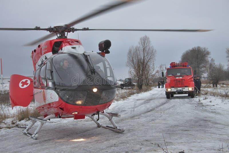 Helicóptero del rescate de Eurocopter EC145 imágenes de archivo libres de regalías