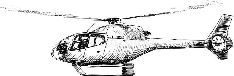 Helicóptero del vuelo stock de ilustración