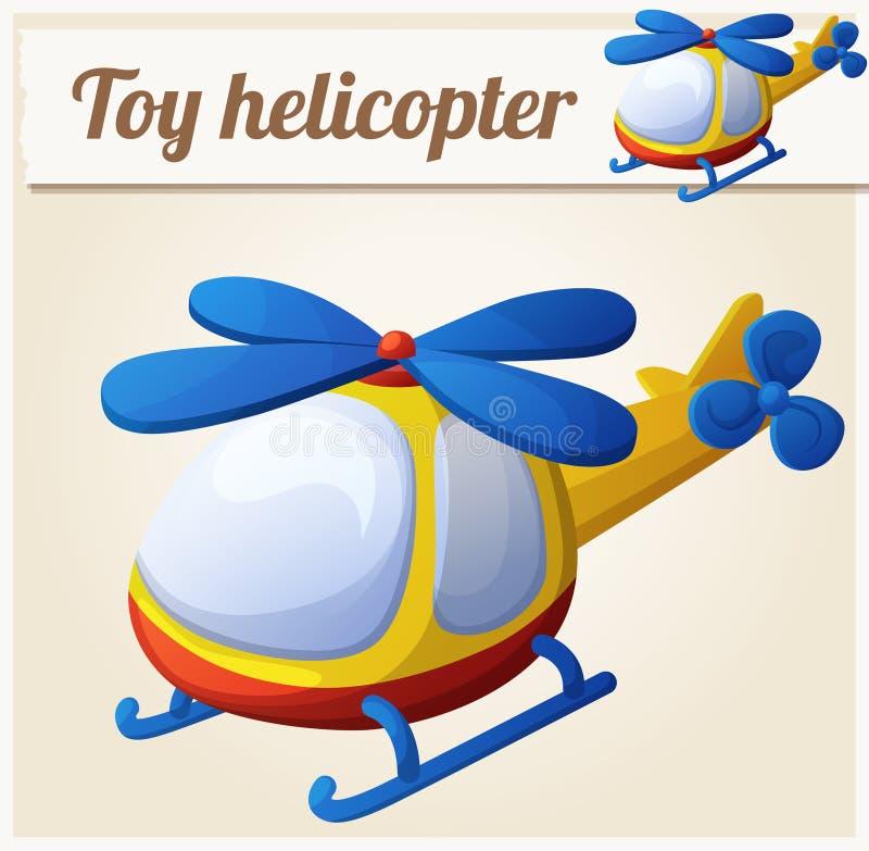 Helicóptero do brinquedo Ilustração do vetor dos desenhos animados ilustração royalty free