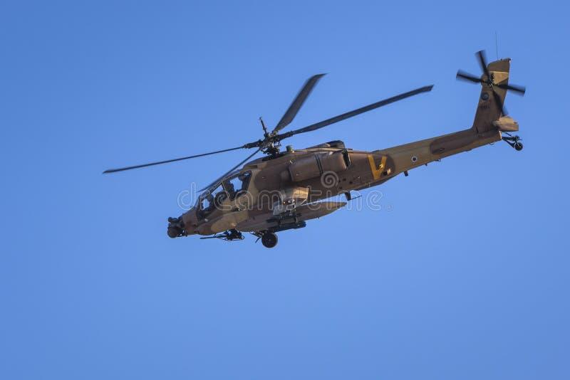 Helicóptero do IDF Boeing AH-64 Apache fotos de stock royalty free