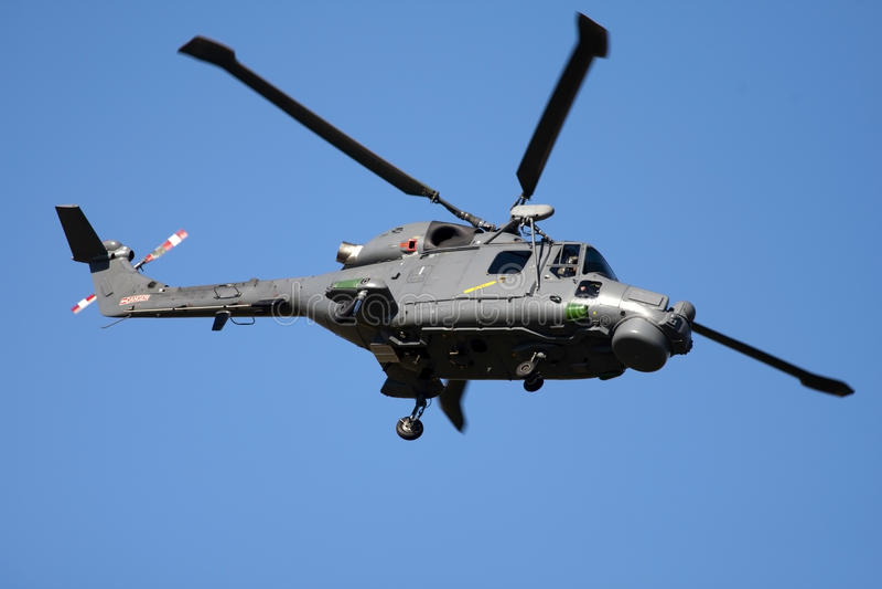 Helicóptero do lince de Westland fotografia de stock royalty free